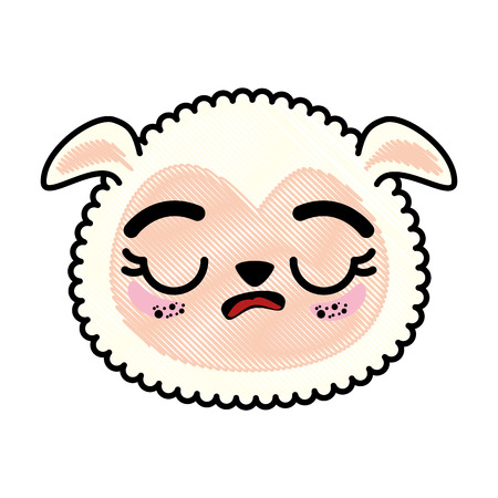 isolated cute sheep face icon vector illustration graphic design