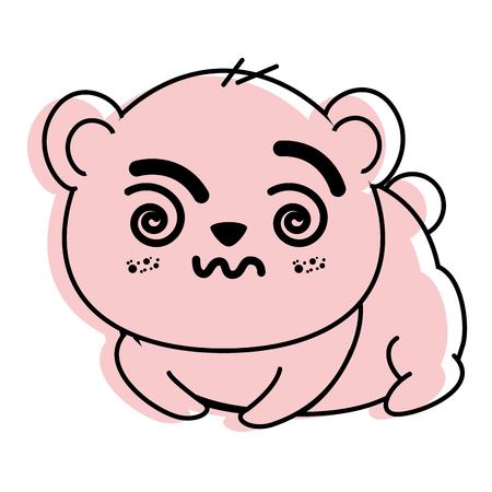 Panda mignon isolé ours icône vecteur illustration graphique Banque d'images - 82945492