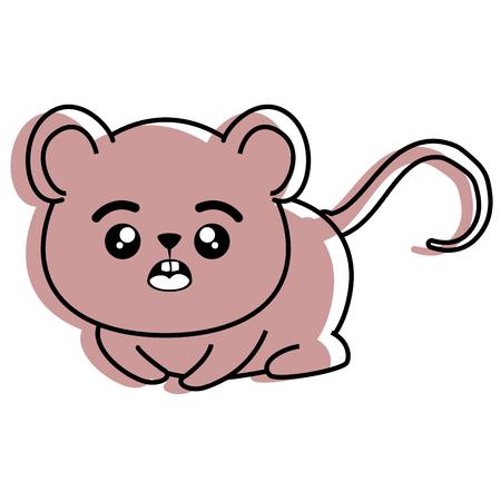 Aislado cute ratón icono ilustración vectorial diseño gráfico Foto de archivo - 82950680