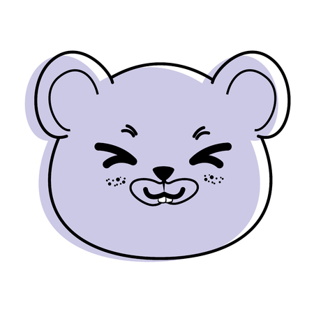 isolated cute mouse face icon vector illustration graphic design