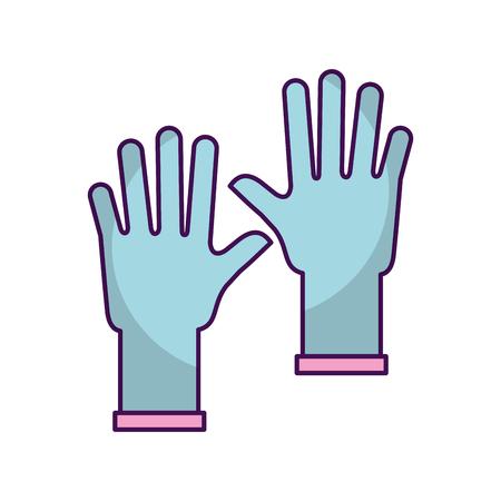 Guantes de goma icono aislado diseño de la ilustración vectorial Foto de archivo - 82951318