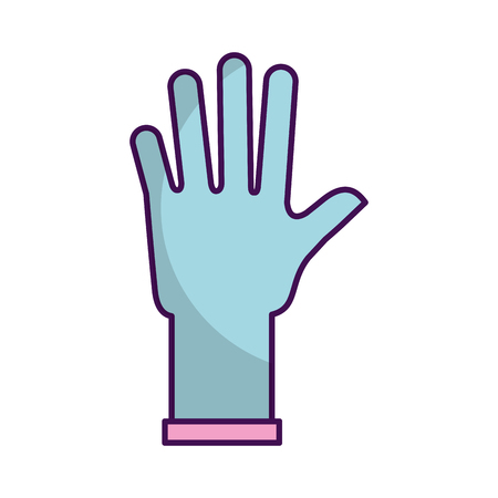 surgical glove: rubber gloves isolated icon vector illustration design