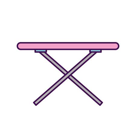 다림 질 보드 격리 된 아이콘 벡터 일러스트 레이 션 디자인