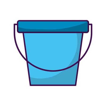 laundry bucket isolated icon vector illustration design