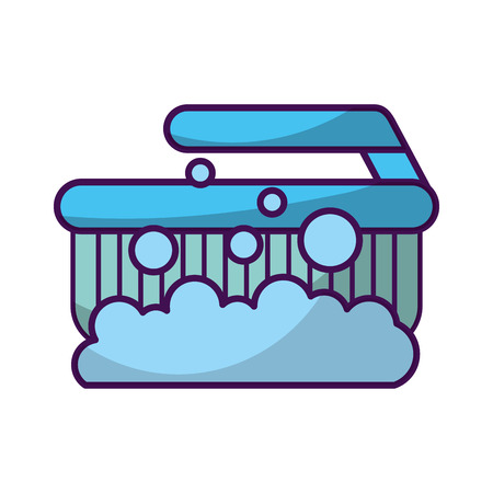 Cleaning brush isolated icon vector illustration design Ilustração