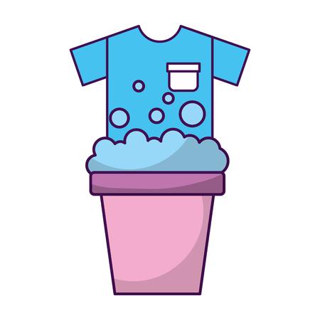 Wasserij emmer met shirt vector illustratie ontwerp