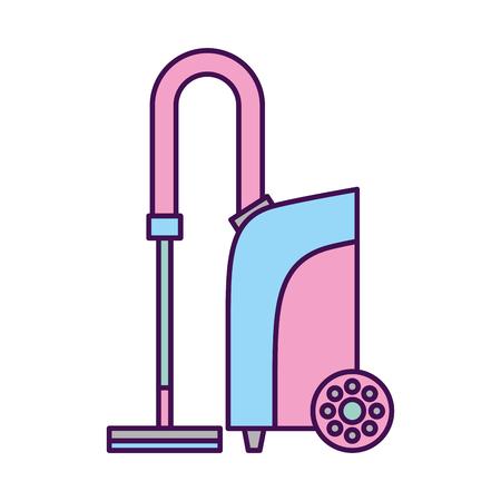 Het stofzuiger geïsoleerde ontwerp van de pictogram vectorillustratie
