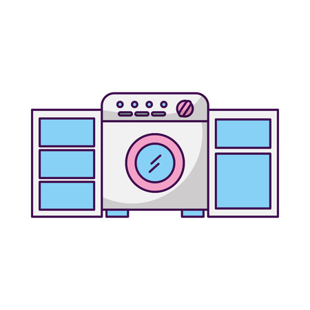wash machine isolated icon vector illustration design Фото со стока - 82951561