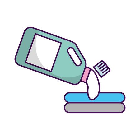 detergent bottle with clothes vector illustration design
