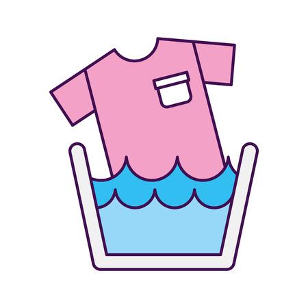Wasserij kleding wassen pictogram vector illustratie ontwerp