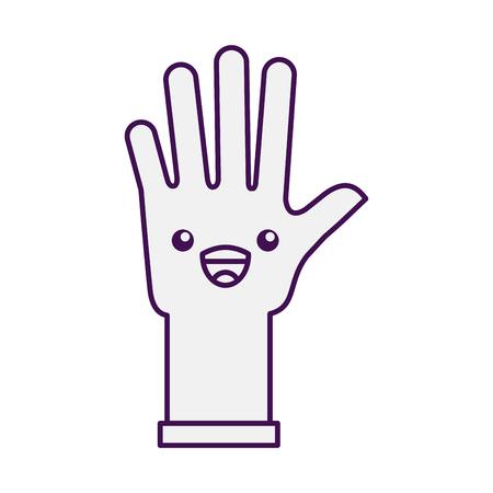 rubber gloves character vector illustration design