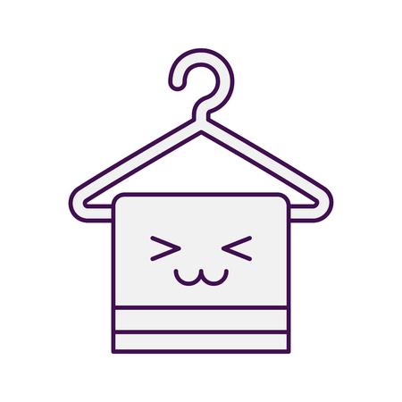 Laundry garments hanging character vector illustration design