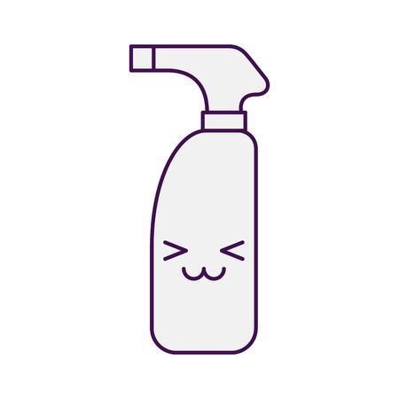 Bottle with sprinkler character vector illustration design Ilustração