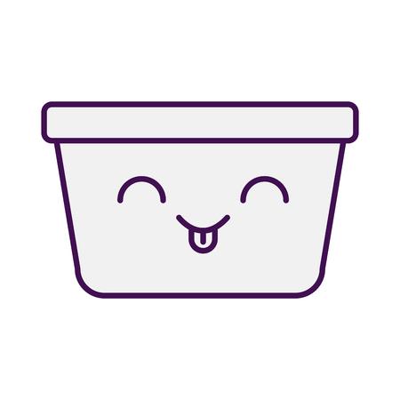 laundry basket character vector illustration design Illustration