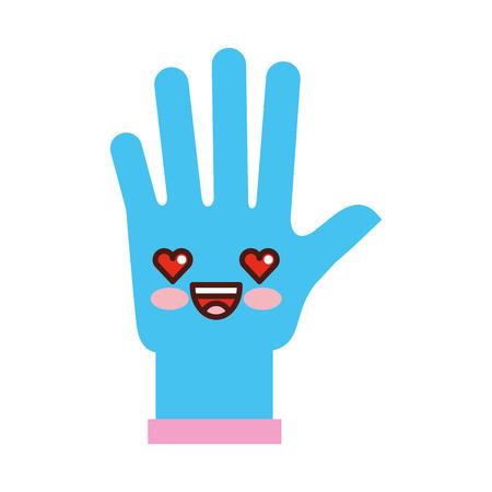 surgical glove: rubber gloves  character vector illustration design