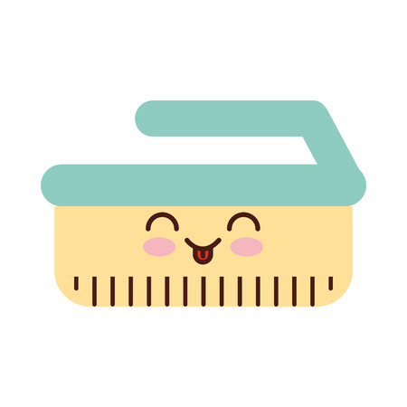 Cleaning brush kawaii character vector illustration design