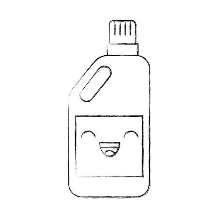 detergent bottle kawaii character vector illustration design Illustration