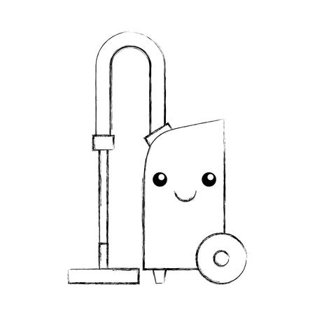 Vacuum cleaner kawaii character vector illustration design Illustration