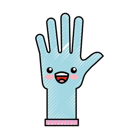 ゴム手袋かわいい文字ベクトル イラスト デザイン  イラスト・ベクター素材