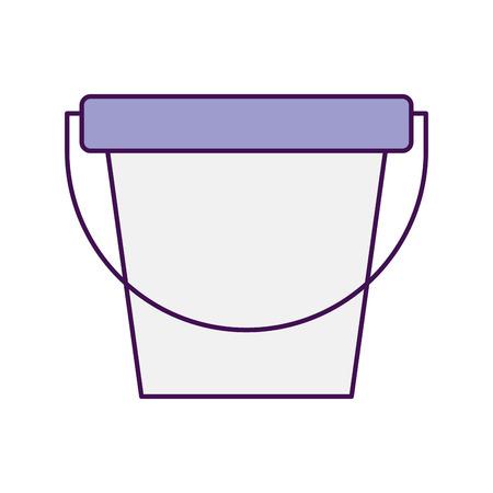 ontwerp van de het pictogram vectorillustratie van de wasserijemmer het geïsoleerde Stock Illustratie