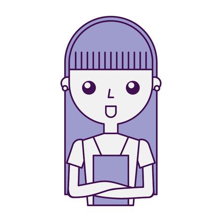 housewife avatar character icon vector illustration design Illusztráció