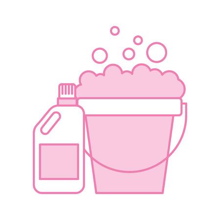 detergent bottle with pot vector illustration design