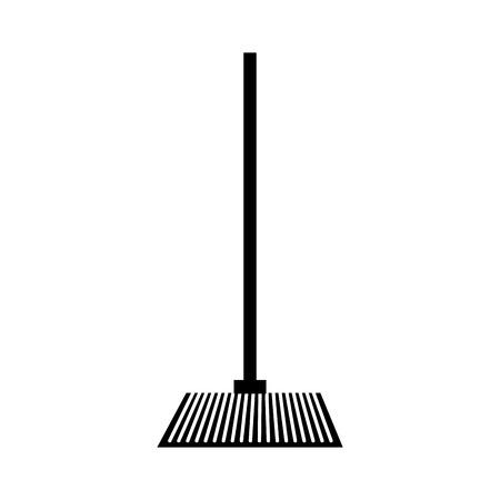 house broom isolated icon vector illustration design Ilustração