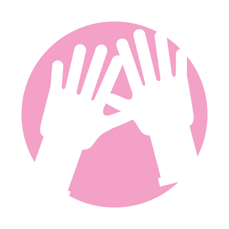 rubber gloves isolated icon vector illustration design