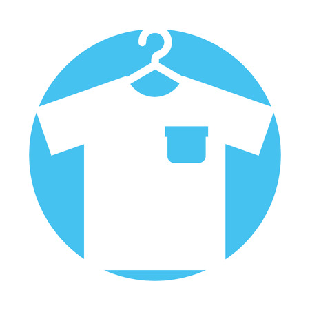 Laundry garments hanging icon vector illustration design
