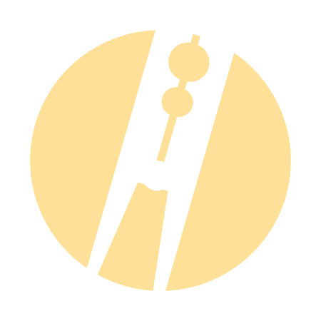 Clothespin wasserij geïsoleerd pictogram vector illustratie ontwerp Stock Illustratie
