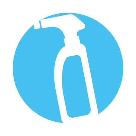 Botella con aspersor icono diseño de ilustración vectorial Foto de archivo - 83025211