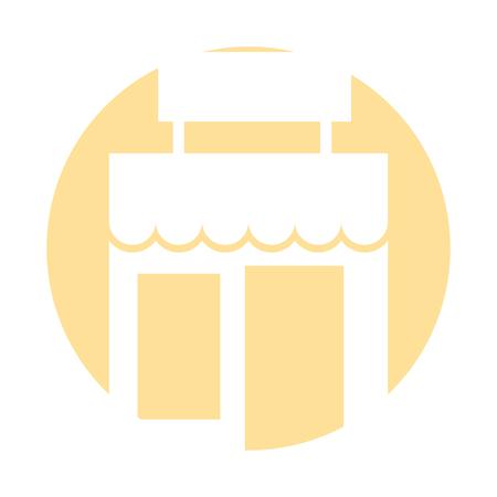Winkel gebouw pictogram vector illustratie ontwerp