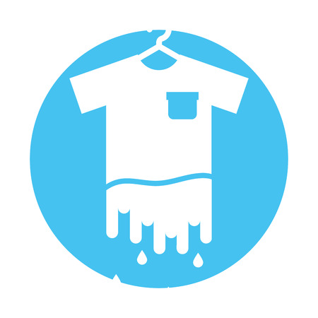 Laundry garments washing icon vector illustration design Illustration