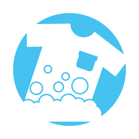 Laundry garments washing icon vector illustration design Illustration