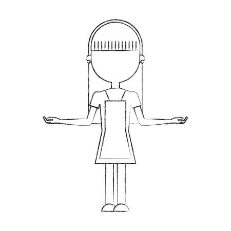 Huisvrouw avatar karakter pictogram vector illustratie ontwerp