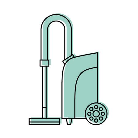Stofzuiger geïsoleerde pictogram vector illustratie ontwerp Stock Illustratie