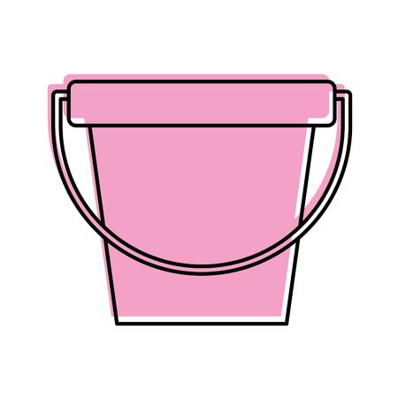 Vector de illustratieontwerp van het wasserijemmer geïsoleerd pictogram Stock Illustratie
