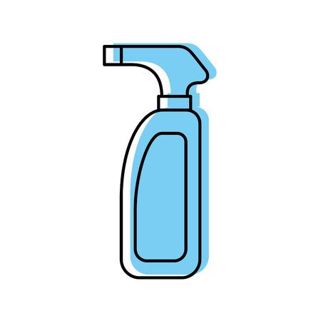 Botella con aspersor icono diseño de ilustración vectorial Foto de archivo - 83021054