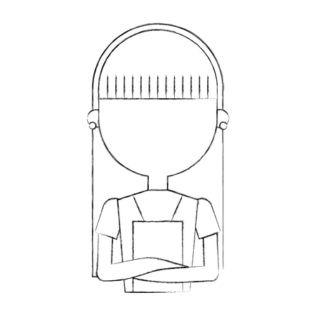housewife avatar character icon vector illustration design Ilustrace