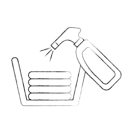 服ベクトル イラスト デザインと洗剤のボトル