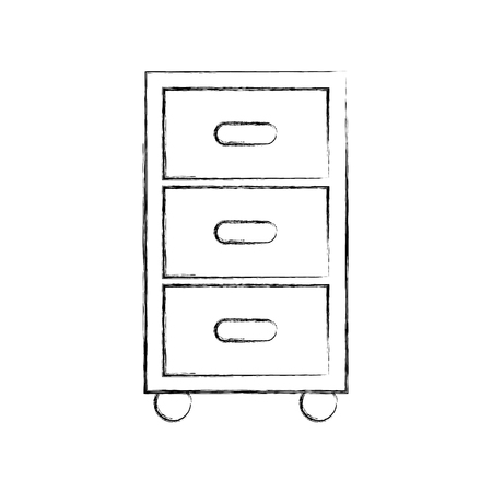 Clothes drawers isolated icon vector illustration design