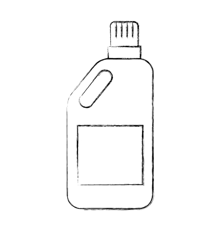 Detergent bottle isolated icon vector outline illustration design