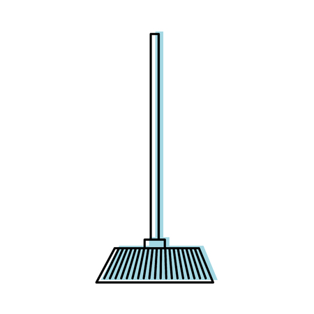 House broom isolated icon vector illustration design