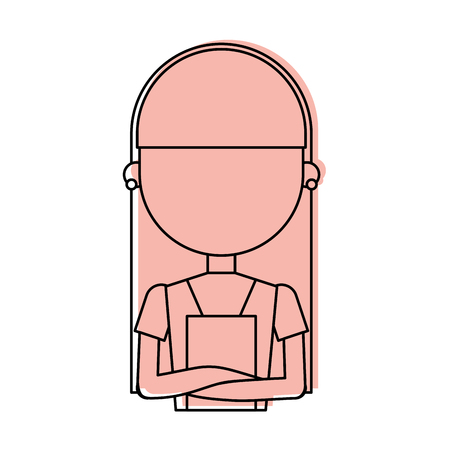 Housewife avatar character icon vector illustration design