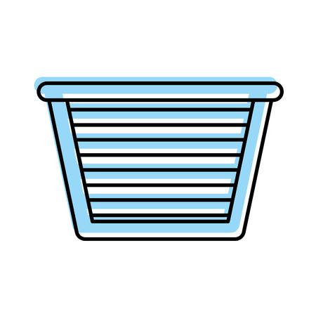 laundry basket isolated icon vector illustration design Illustration