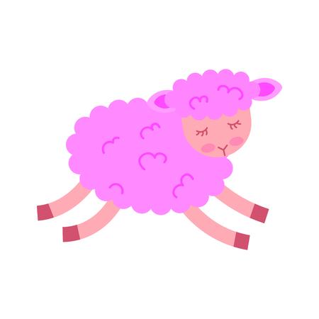 Illustrazione vettoriale di icone di carattere di agnello carino Archivio Fotografico - 82956731