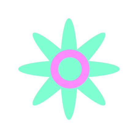flower silhouette isolated icon vector illustration design Illustration