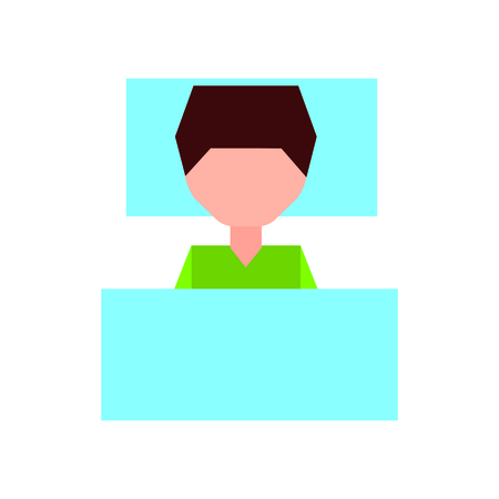 Sleeping man avatar icon vector illustration design 向量圖像