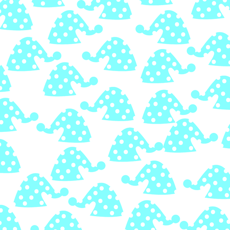 cute sleeping hat pattern background vector illustration design Ilustração