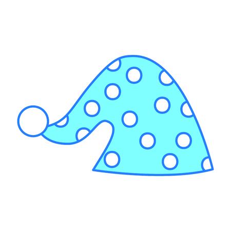 cute sleeping hat icon vector illustration design